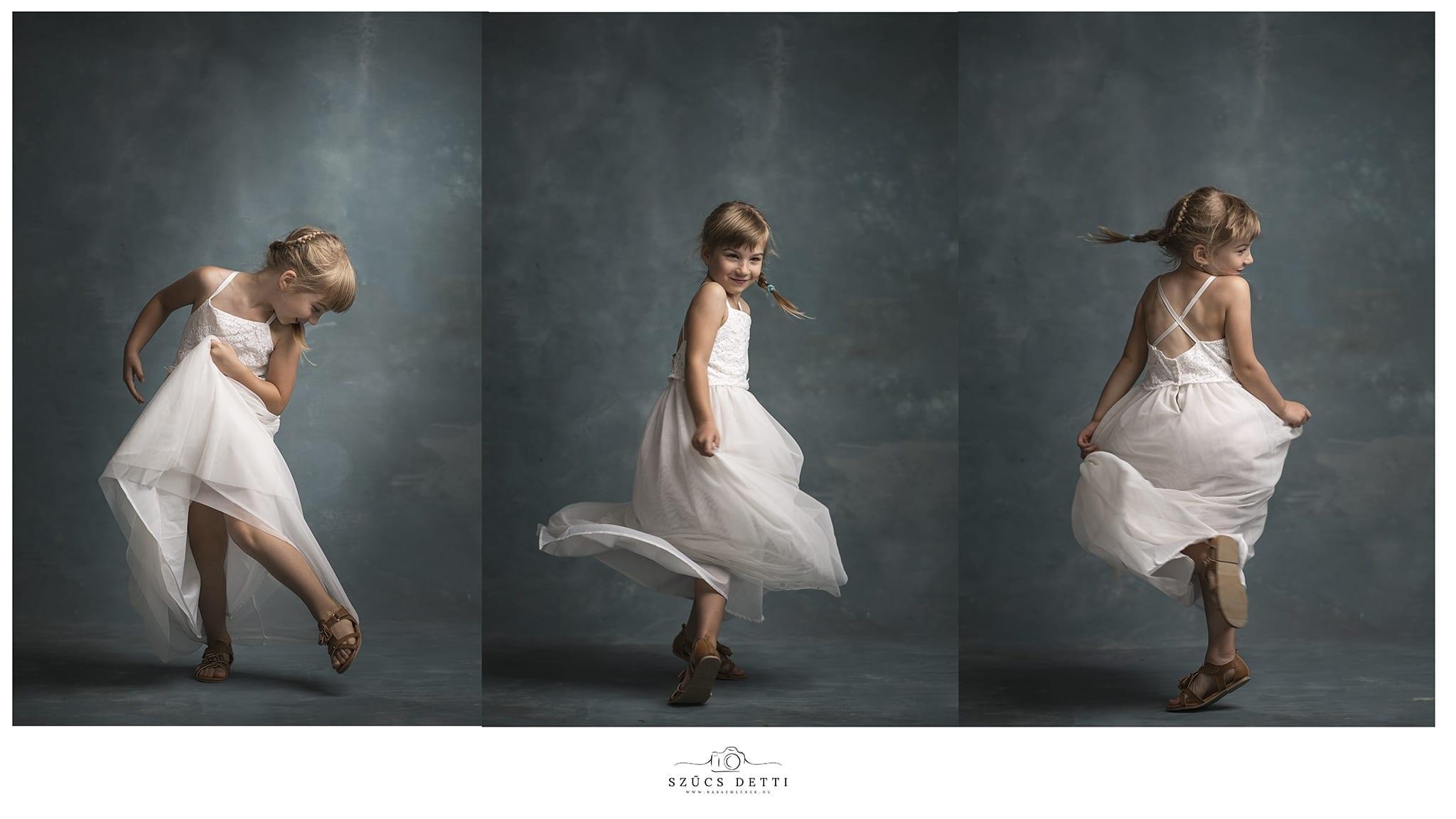 Fine art gyermekfotózás Budapesten profi fotóstúdióban