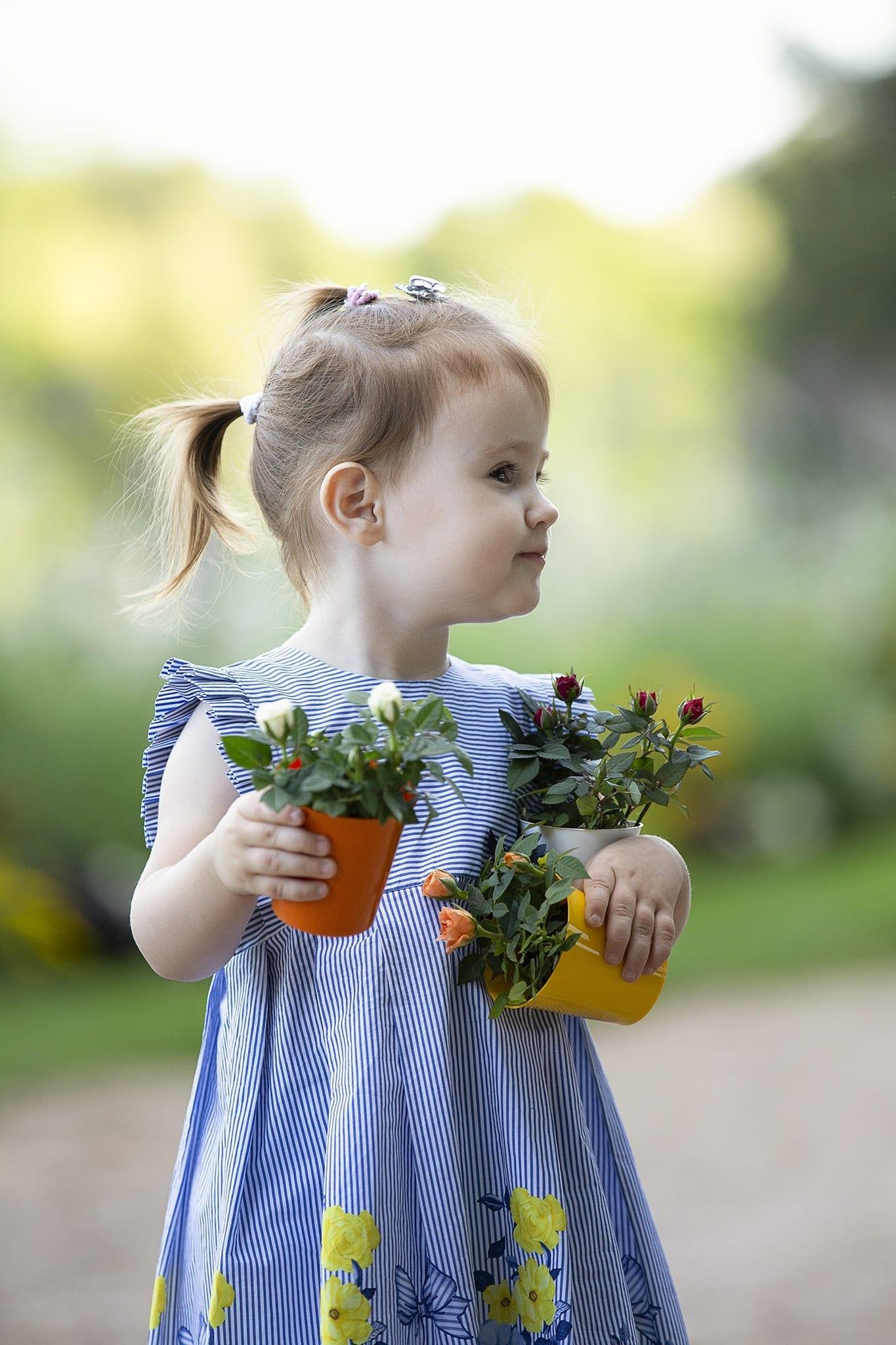 Virágos fotózás kültéren