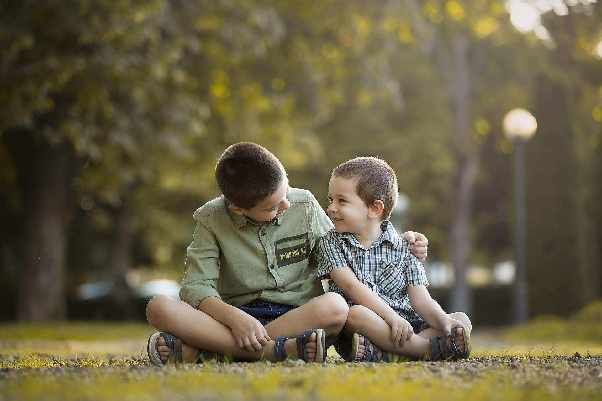 Testvér fotózás